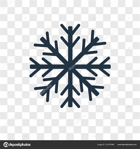 Transparent Background Snowflake Logo Png by Snowflake Vector Icon Isolated Transparent Background