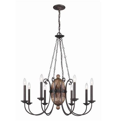 Iron Chandelier - progress lighting trestle collection 4 light gilded iron