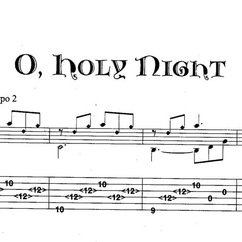 """Download the sheet music for o holy night by hillsong worship, from the album born is the king. """"O Holy Night"""" Sheet music in tab & music notation"""