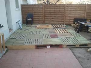 fabrication d39une terrasse With faire une terrasse en caillebotis