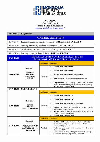 Ceremony Agenda Opening Template Allbusinesstemplates Templates
