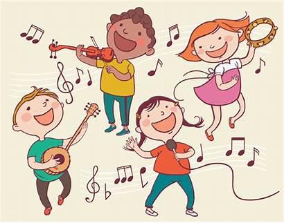 Children Playing Musical Instruments Illustration Speech Clipart