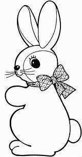 Coloring Rabbit Children sketch template