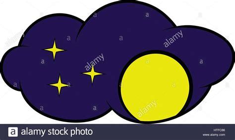 Full Moon Icon, Icon Cartoon Stock Vector Art