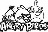 Birds Colouring Drawing Angry Coloring Pages Getdrawings sketch template