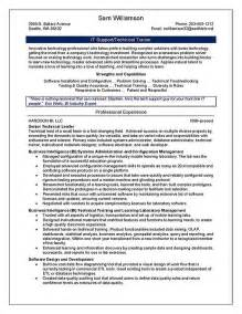 resume for trainer technical trainer resume exle