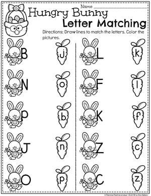 25 letter matching ideas on letters