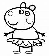 Peppa Pig Coloring Suzy Pages Print Sheep Printable sketch template