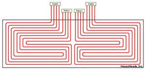 pex radiant floor heating layout f f info 2017