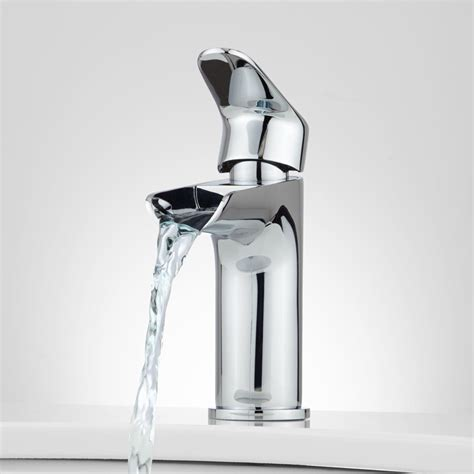 waterfall bathroom faucet chrome pagosa waterfall single hole bathroom faucet bathroom
