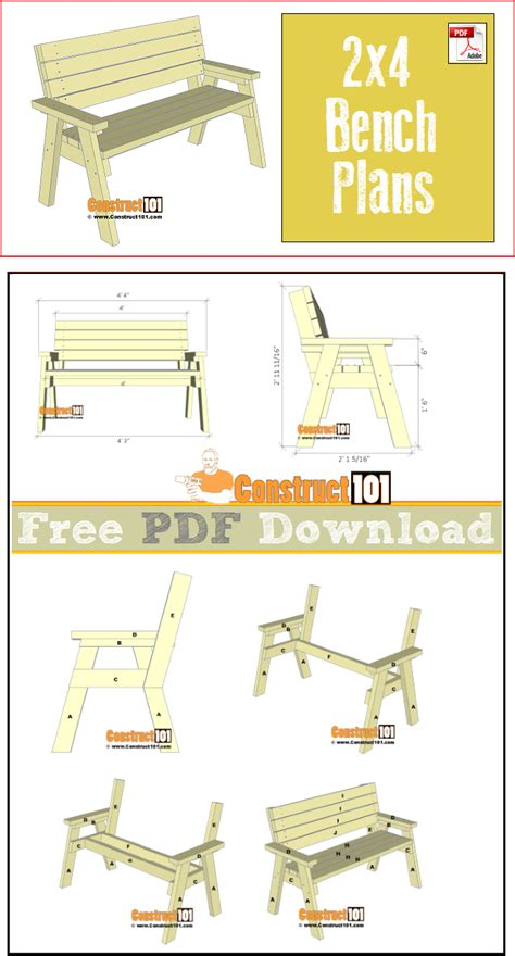 bench plans     construct