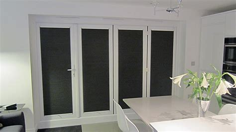 folding doors with duette blinds recess fitted milletty