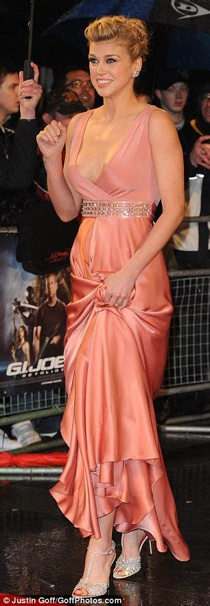 Hot Pic Adrianne Palicki Shows Off Entire Cleavage At The G I Joe Retaliation London Premiere