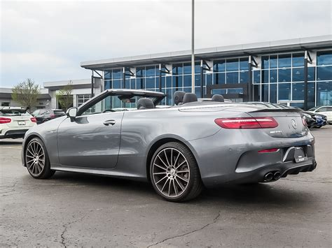 The standard air suspension seamlessly makes the switch from. New 2019 Mercedes-Benz E53 AMG 4MATIC+ Cabriolet Convertible in Kitchener #38771 | Mercedes-Benz ...