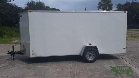 enclosed trailer r door conversion 6x14 sa trailer white r side door snapper trailers