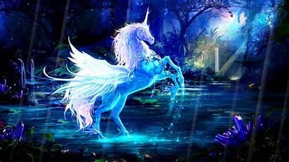Unicorns Magic Animated Unicorn Magical Rainbow Background