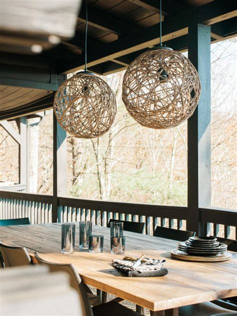 sisal rope pendant light  tos diy
