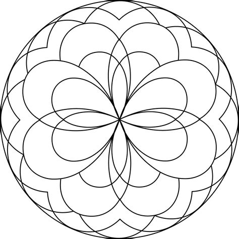 simple mandala coloring pages download and print for free