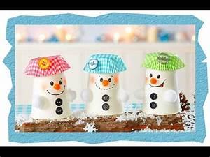 Basteln Winter Kinder : pappbecher schneem nner basteln mit kindern youtube ~ Frokenaadalensverden.com Haus und Dekorationen