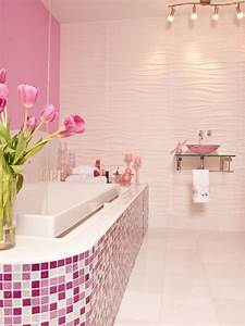 30 bathroom color schemes you never knew you wanted With kitchen colors with white cabinets with pink bathroom wall art