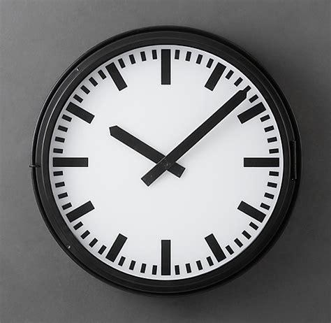 metro lighted train station clock