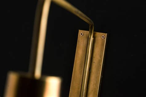 rare elegant german solid brass swing arm wall light sconce 1960s oregonuforeview