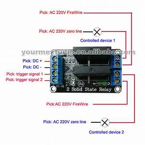 Wholesale 2 Channel 5v High Solid State Relay Modules With Fuse 250v2a