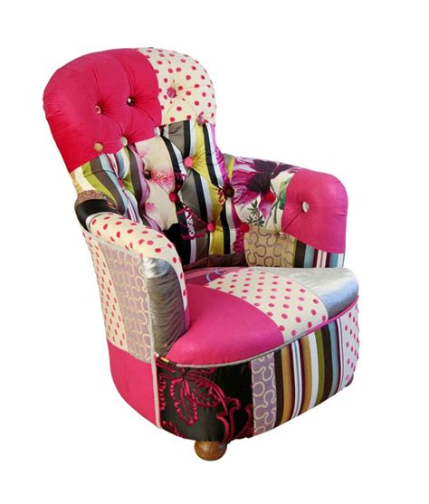 pink princess patchwork chair bespoke chairs
