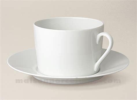 tasse dejeuner soucoupe limoges porcelaine blanche empire 10x7x17 5 35cl maison de la porcelaine