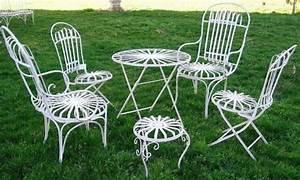 Chaise De Jardin En Fer : salon de jardin el gance en fer forg chaise de jardin demeure ~ Teatrodelosmanantiales.com Idées de Décoration