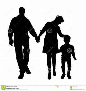 Vector Silhouette Of Family. Stock Vector - Illustration ...