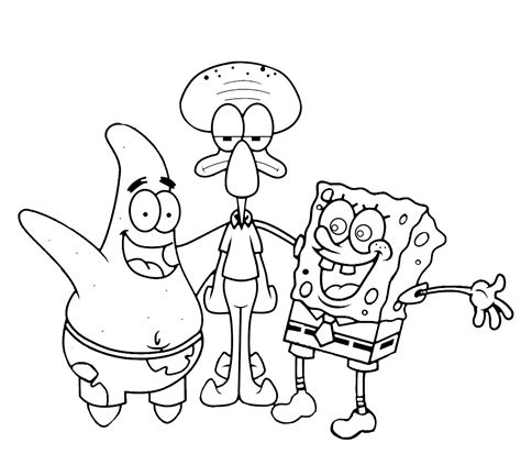 mewarnai gambar spongebob mewarnai terbaru lucu