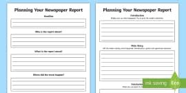 newspaper report examples resource pack primary resource