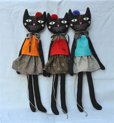 cat doll handmade rag cat doll diy