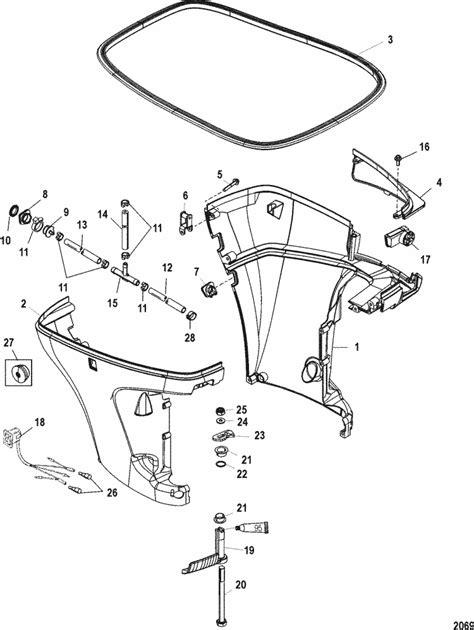 Mercury Marine Stroke Bottom Cowl Parts