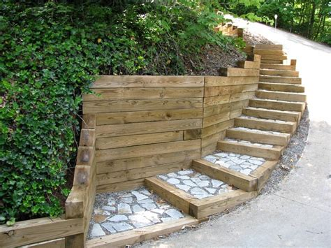 Durable Landscape Timbers Retaining Wall For Great