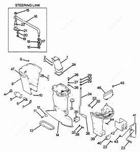Mercury Force 125 H P  1988  Motor Leg