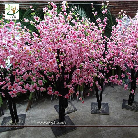uvg china wedding supplies party decoration pink artificial blossom trees for sale chr152
