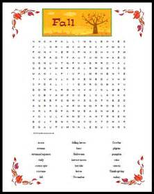 themed gifts fall themed word search free printable page for kids