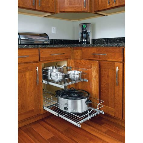 small rolling kitchen island rev a shelf 19 in h x 14 75 in w x 22 in d base cabinet
