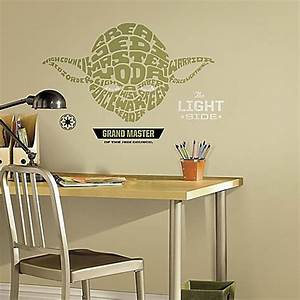disneyr star warstm typographic yoda giant peel and stick With star wars decals for walls near me