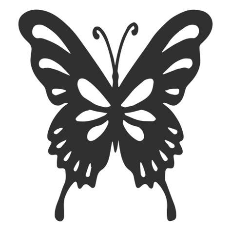 artistic butterfly silhouette transparent png svg vector