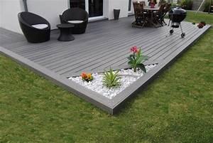 fiberon xtrem 01 pinteres With amazing amenagement terrasse et jardin photo 13 terrasse piscine galets