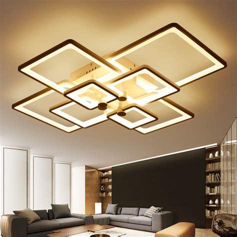 modern light fixtures aliexpress com buy square rings designer modern led