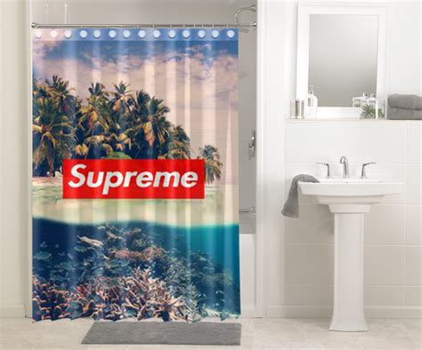 beach tropical supreme  shower curtain waterproof