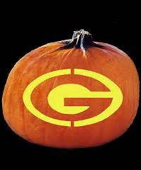 Green Bay Packers Pumpkin Stencil by Spookmaster Nfl Football Green Bay Packers Pumpkin