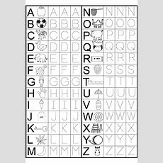 Kindergarten Alphabet Worksheets To Print  Alphabet And Numbers Learning  Preschool Worksheets
