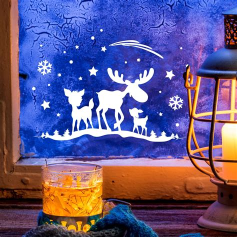Fensterbilder Weihnachten Selbstklebend Günstig by Fensterbild Weihnachten Selbstklebend Fensterbild