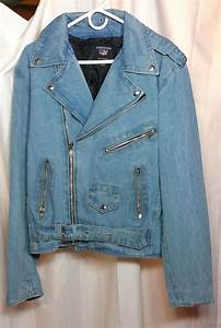 Jean Jacket Size Chart Blue Denim Cotton Classic Motorcycle Biker Jacket