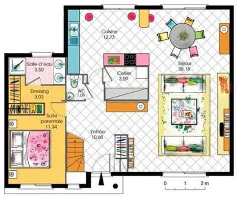 plan cuisine americaine plan d 39 une suite parentale de luxe plans maisons